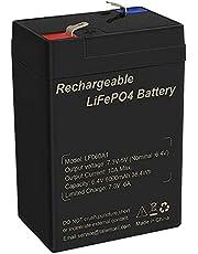 AFTERTECH Lifepo4 oplaadbare lithium-ijzerfosfaataccu van 6 V, 6 Ah