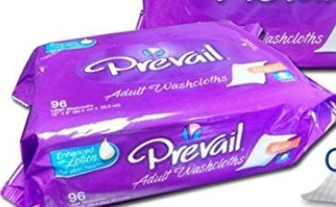 Prevail large adult washcloths refill 96 count (2 Pack) by Prevail
