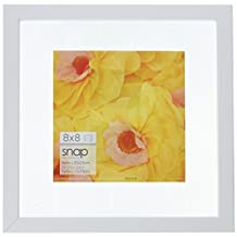 Snap Floating Wall Frame, 8 by 8-Inch, White