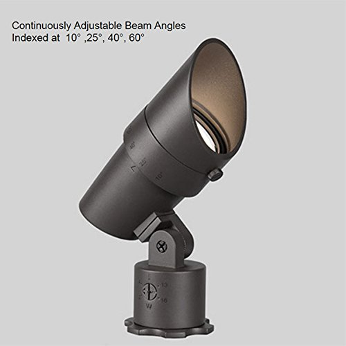 WAC Lighting 5011-30BZ WAC LED 12V Accent Light Adjustable Beam and Output 3000K Soft White in Bronze Pure Aluminum