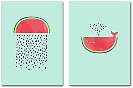 Cartoon Fruits Canvas Painting Watermelon Prints Poster Wall Art Picture Decor