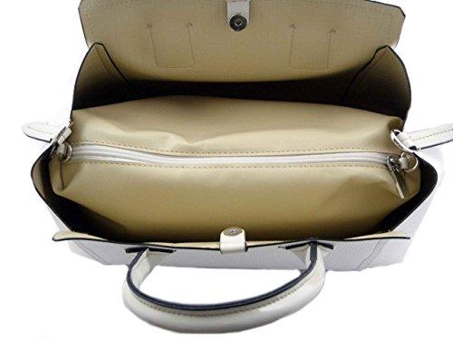 tracolla bianca pelle componibile Nardini e agganciabile Bauletto in eco a beige Borsa wzTqBxO