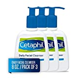 Cetaphil Daily Facial Cleanser for Normal to Oily Skin, Gentle Face Wash for Sensitive Skin, 8 oz. (Pack of 3)