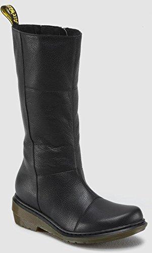 Dr. Martens Women's Charla Tall Zip Boot,Black Broadway,8 UK/10 M US