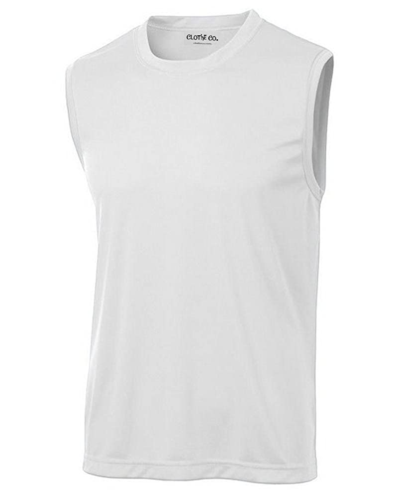 8a9c62ddd2f52 Men s Sleeveless Moisture Wicking Muscle Shirt Larger Athletic Fit. Sizes -  XS