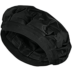 Cordless Deep Conditioning Heat Cap - Hair Styling and Treatment Steam Cap   Heat Therapy and Thermal Spa Hair Steamer Gel Cap - Black
