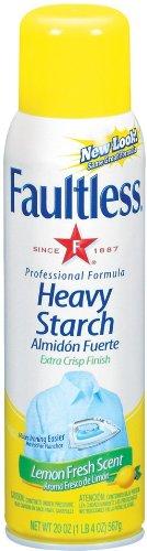 - Bon Ami 20708 20oz Faultless Heavy Lemon Starch (12 Pack)