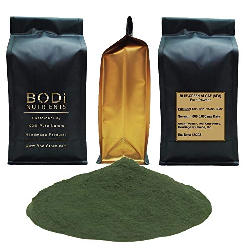 BODi : Blue Green Algae (AFA: Aphanizomenon Flos Algae) 100% Pure Organic Powder (4 8 16 32 oz) Superfood Natural Killer Cell Blood Tonic (8 oz)