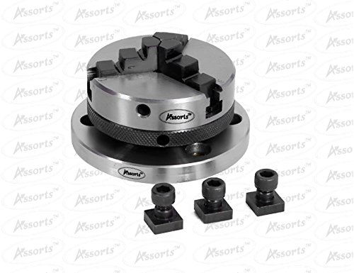 3'' Inches (75 mm) Tilting Rotary Table+ 65 mm 3 Jaws Self Centering Chuck+ Back Plate+ T-nuts