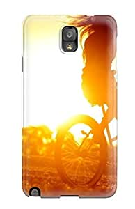 Excellent Galaxy Note 3 Case Tpu Cover Back Skin Protector Biker In The Sunset