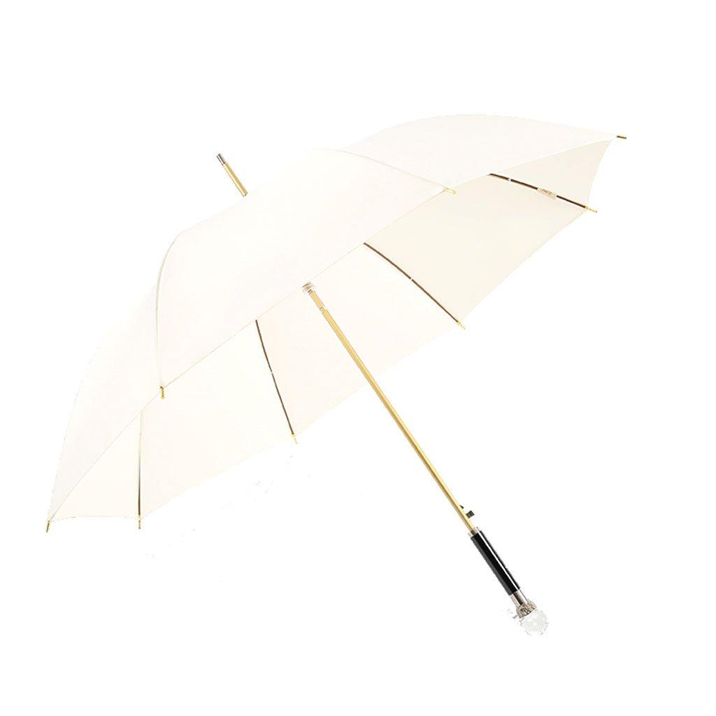 Upscale Men Umbrella Long Umbrella Commerce Straight Rod Lion Head Creativity Men and Women Umbrella (Color : E)