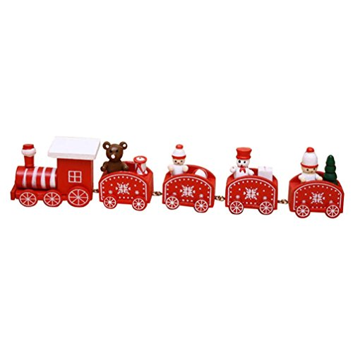 OVERMAL Beautiful Christmas Xmas Wood Train Decor Gift Children Stitching (9 Month Old Baby Diy Halloween Costumes)