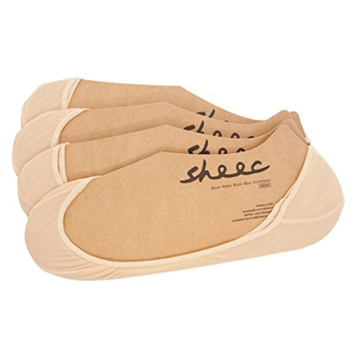 SHEEC - SoleHugger SECRET SHEER No-Show Socks - 4 Pair (Cream/Medium)