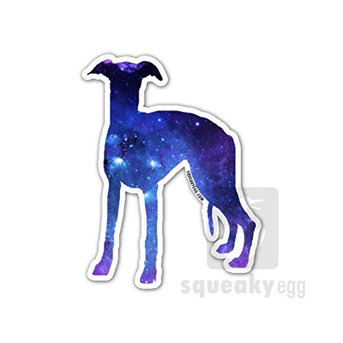 Whippet Dog Magnet - Squeaky Egg Magnets Whippet Car Magnet - Space Pattern Whippet