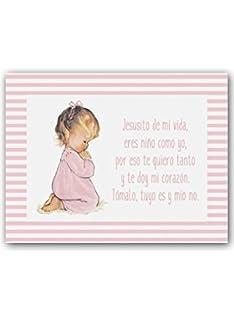 Cuadro Oración Infantil Angel De La Guarda En Celeste Amazones Bebé