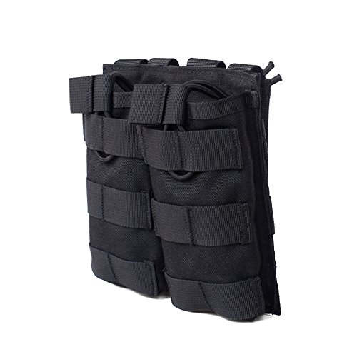 OUTRY M4 M16 AR15 Magazine Pouch - Open Top Mag Holder - Triple / Double / Single Airsoft MOLLE Mag Pouch (4 Colors available) - Double - (Ar Magazine)