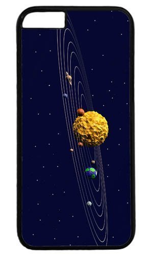 3d Sun System art Masterpiece Limited Design PC Black Case for iphone 6 plus by Cases & Mousepads BY icecream design