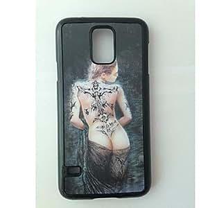 GX patrón de mujer caso el efecto 3D para i9600 Samsung Galaxy S5