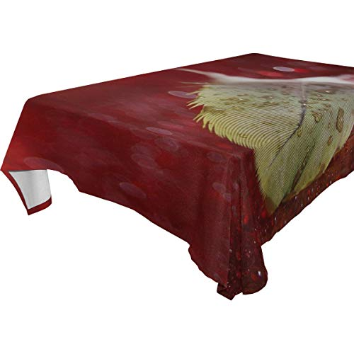 MAXM Pen Droplet Surface Rectangular Tablecloth for Dinner,Kitchen,Party,Picnic,Wedding,Restaurant Or Banquet Use,Fall,Holidays,Thanksgiving,Halloween,Christmas,tablecovers Spread,54x72 Inch -