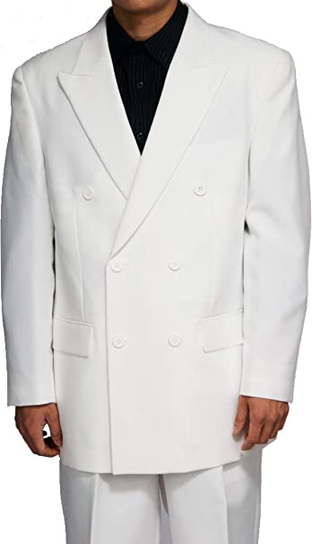 New Double Breasted (DB) White Men\u0027s Business Dress Suit