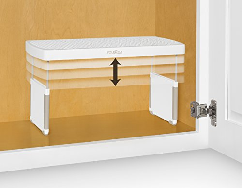 YouCopia StoreMore Height Expandable Kitchen Cabinet Shelf Organizer, 13-Inches, (Riser Kitchen)