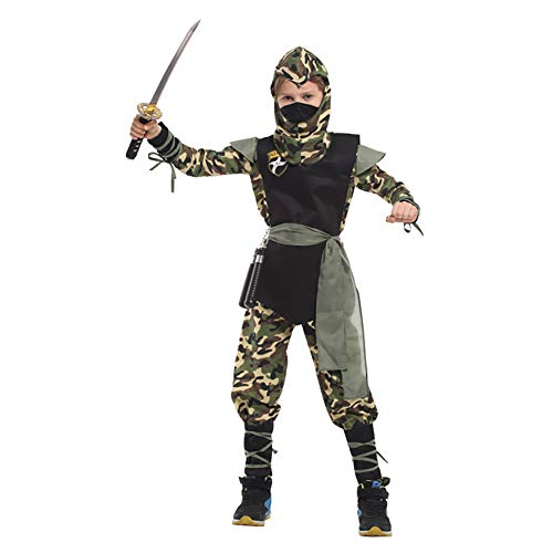 SUZM Children's Ninja Costume Sets Halloween Cosplay Dress