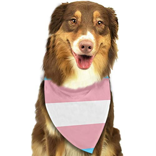 - FRTSFLEE Dog Bandana Transgender Pride Flag Scarves Accessories Decoration for Pet Cats and Puppies