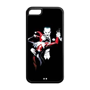 LJF phone case the Case Shop- Customizable Joker and Harley Quinn Limited Edition iPhone 5C TPU Rubber Protective Hard Back Case Cover Skin , i5cxq-638