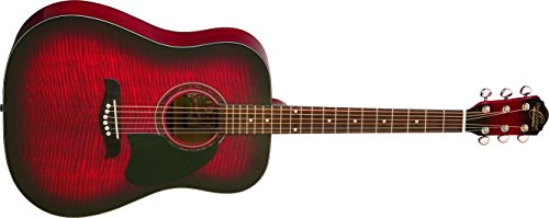 Oscar Schmidt OG2FBC-A-U Acoustic Dreadnought Size Guitar. Flame Black Cherry by Oscar Schmidt