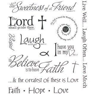 Inspirational Words Stickers (Stickers Scrapbook Words)
