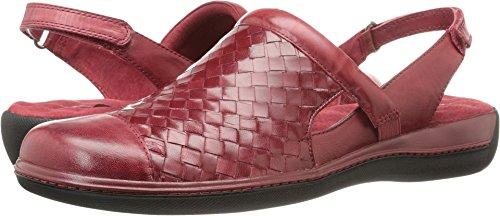 SoftWalk Women's Salina Woven Dark Red Burnished Veg Kid Leather 5 M US Burnished Red Kids Shoes
