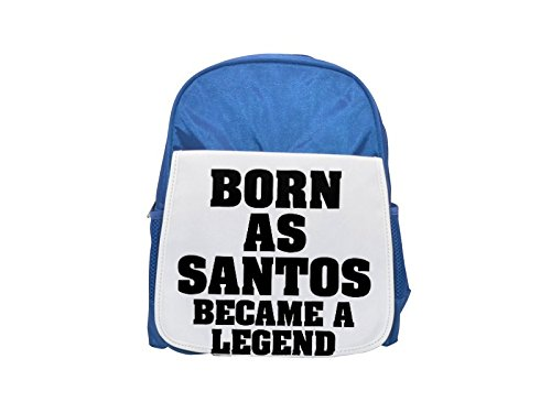 Born as SANTOS, became a legend printed kid's blue backpack, Cute backpacks, cute small backpacks, cute black backpack, cool black backpack, fashion backpacks, large fashion backpacks, black fashion b