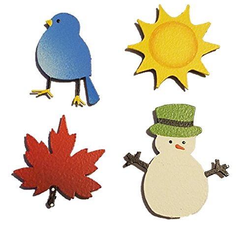 Icons Seasonal - Embellish Your Story Seasonal Icon Set of 4 Assorted Magnets 13165M Made in USA
