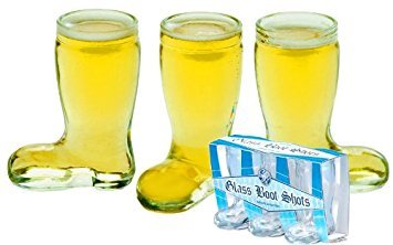 Mini Glass Boot 3 Pack Shot Glasses Standard -