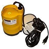 Utility and Sump Pump - 1200 Gal/Hr. - 2/5 HP - 1 Hose Fittings - 20 ft. Power Cord - 110-120 Volt - Mondi MONDIC105