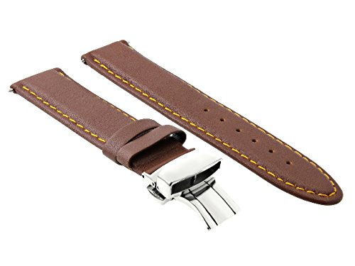 18-19-20-22-24MM LEATHER WATCH BAND STRAP SMOOTH CLASP FOR MOVADO L/BROWN #2 -  Ewatchparts, EWP403757818