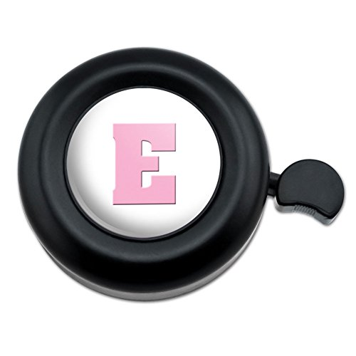 Letter E Initial Baby Girl Block Font Pink Shower Bicycle Ha