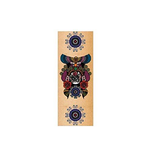 YOOMAT Naturkautschuk-Yogamattenkorken Professionelle tragbare Yogamatten-Millimeter-Senior kann Muster besonders angefertigt Werden