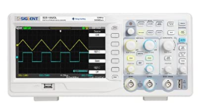 Siglent SDS1052DL Digital Storage Oscilloscope with Frequency Counter, 50MHz, 7'' TFT-LCD Display with a NIST-Traceable Calibration Certificate with Data