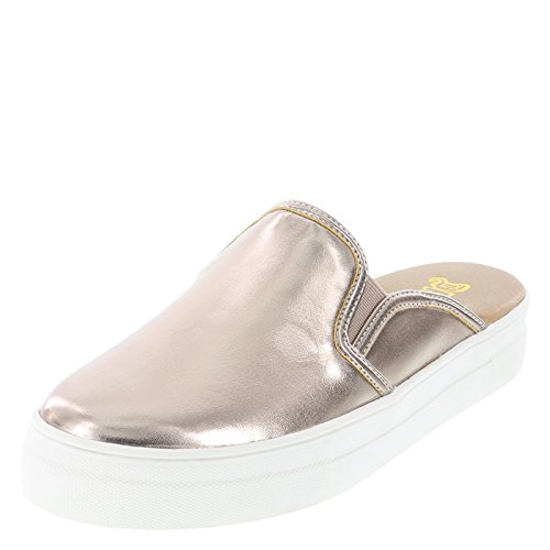 Brash Rose Gold Smooth Women's Dakota Mule Slip-On 8 Regular Gold Dakota Rose