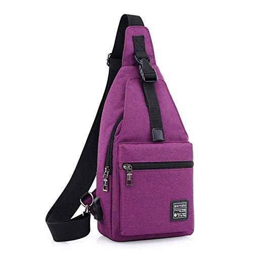 Paseo pie Paño de de mensajero Corriendo mujeres de de pecho roca Movimiento Bolsa Purple A en Versátil Escalada hombro y Hombres Bolsa Paquete Mochila Paquete de pecho Oxford F08nqPqa