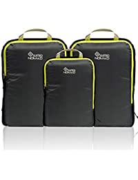 Compression Packing Cubes Set,Ultralight Travel Organizer Bags