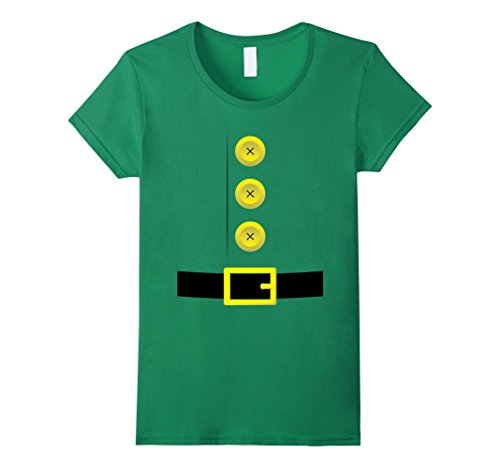 Womens Christmas Holiday Costumes Shirts: Elf Dwarf Costume T-Shirt Small Kelly Green - Holiday Costumes Christmas