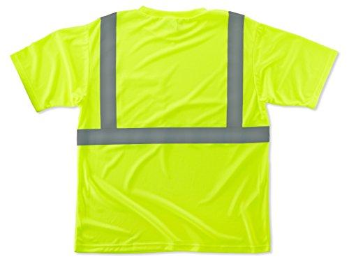 Ergodyne GloWear 8289 ANSI High Visibility Lime Reflective T-Shirt, Large