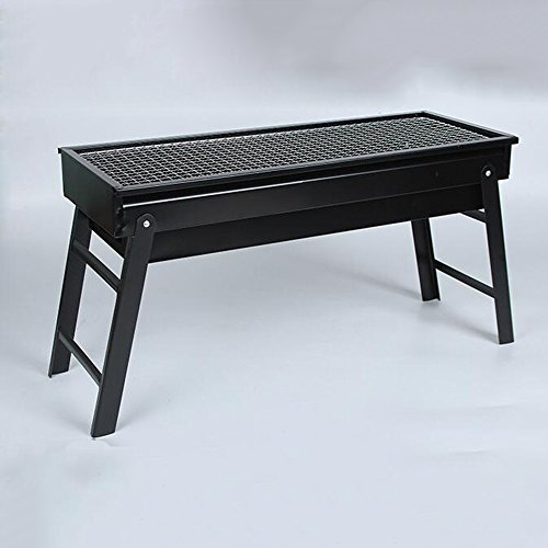 ZZ-aini Folding Portable Smokers Charcoal grills, Griddles Camping Picnicking Barbecue BBQ-Black 60cm(24inch)