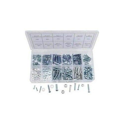 347 Piece Metric Nut and Bolt Assortment Sheet Metal Machine Screw Hardware -