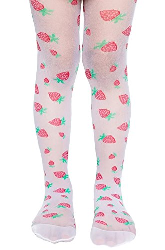 Price comparison product image Lovely Patterned White Chilrdren's Tights Strawberries 20 Denier by Lady Kama