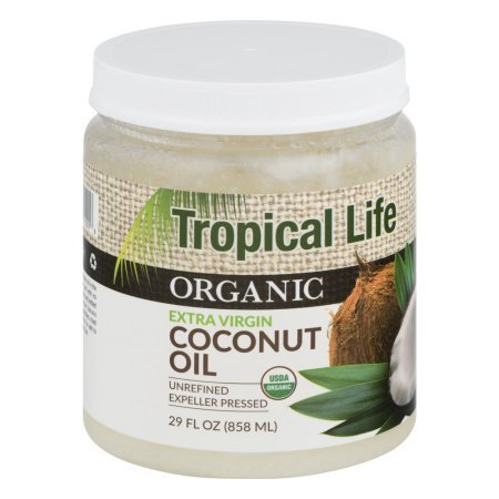 Tropical Life Organic Extra Virgin Coconut Oil 29 fl oz (Pack of 2)