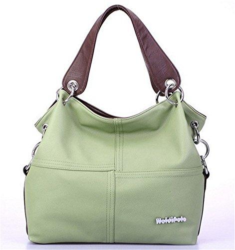 sac Vert à grand à sac Sac main YOGLY à cuir cabas main femme sac hobo sac fourre pas cher femme bandoulière main sac axBxf