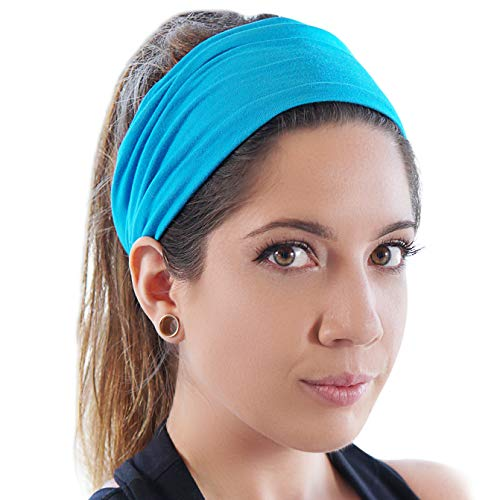 GearTOP Guys Sweatband and Mens Headband. Stretch Moisture Wicking, Best Yoga and Sports Headbands for Men and Women. Optimize Your Athletic Performance!